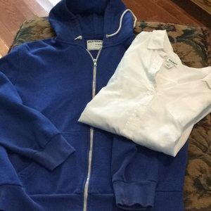 Old Navy blouse and hoodie jacket